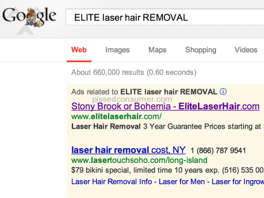 Elite Laser Hair is a rip off!  False Advertising. THE TRUTH about elite laser hair reviews