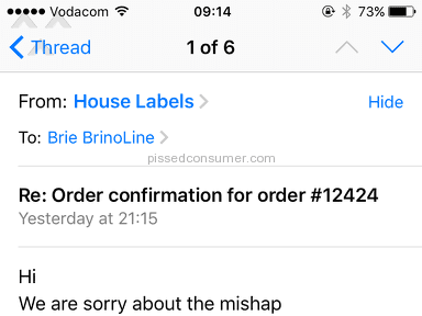 House Of Labels E-commerce review 155722