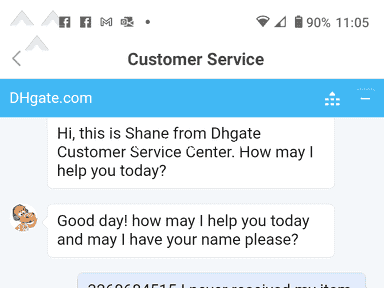 DHgate Shipping Service review 830532