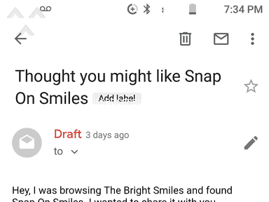 Snap On Smile - Terrible Had my hopes up and very disappointed
