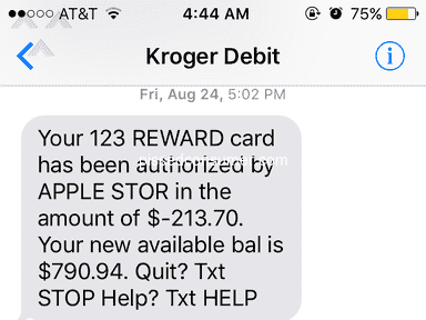 Kroger Personal Finance - Kroger Debit Card is a Scam