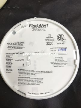 First Alert P1210 Smoke Detector