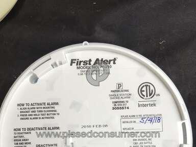 2 First Alert P1210 5 year smoke alarm dead