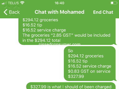 Instacart Customer Care review 785268