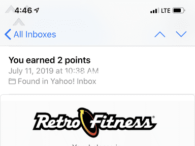 Retro Fitness - Fraudulent personal training session attended