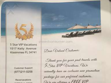 5 Star Vacations VIP Vacation Package Booking review 256258