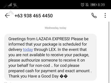 Lazada Philippines Lazada Express Philippines Courier Delivery Service review 672551