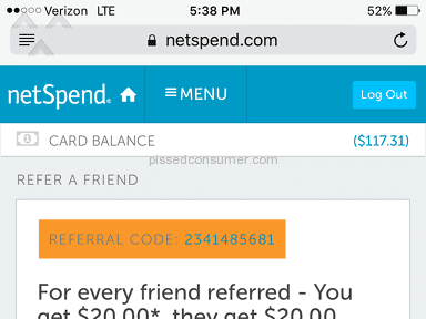 Netspend Refer A Friend Referral Program review 150440