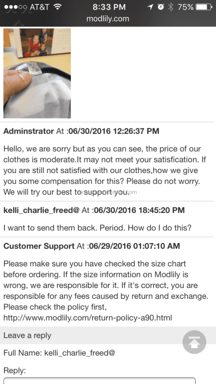 b3b7f1ef8a45 2889 Modlily Reviews and Complaints Page 131   Pissed Consumer