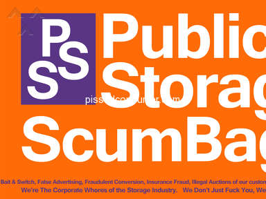 PUBLIC STORAGE CORPORATE THIEVERY, DEFRAUDING CUSTOMERS, VIOLATING CA LAWS