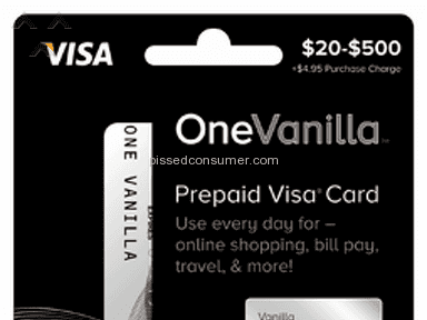 OneVanilla Prepaid Card review 105409