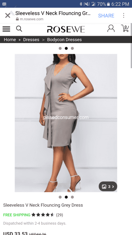 677886d2b42 241 Rosewe Dress Reviews and Complaints Page 4   Pissed Consumer