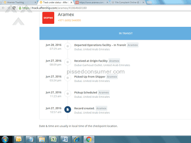 Aramex - Pathetic service 3 days and still no delivery!!!!