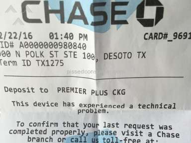 Chase Bank - Account Review from Dallas, Texas