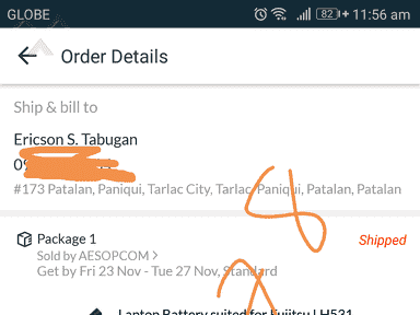 Lazada Philippines - My order loptop battery fujitsu