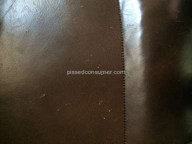 Levin Furniture - Leather scratches too easily and arm is falling off recliner