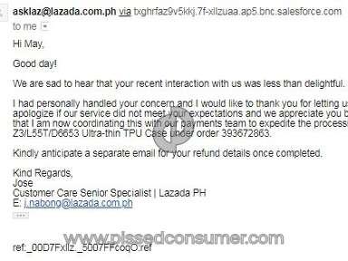Lazada Philippines - Unhappy
