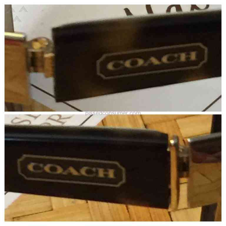 cde50843c5a LensCrafters - Expensive pair of Coach glasses and they won t fix it.