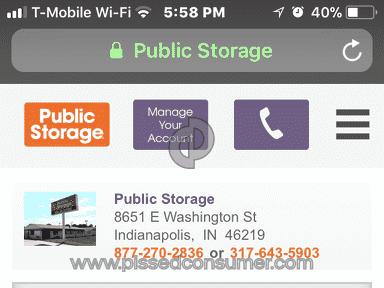 Public Storage Storage Unit review 245416