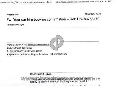 CarTrawler Car Rental Booking review 268454