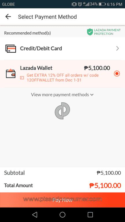 Lazada Philippines - Transaction Declined at Ewallet Dec 14