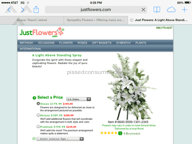 Justflowers Arrangement review 38507