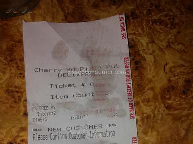 Pizza Hut - Quality of pizza was very poor. When i called store rude