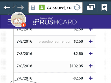 Rushcard Prepaid Card review 148502