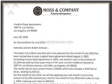 Moss and Company - 15 years tenant in Hollywood CA FORCED OUT for NO REASONS by MOSS & Company