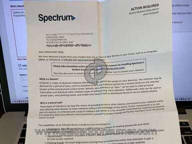 Charter Communications   Spectrum.net/security suite sends letters