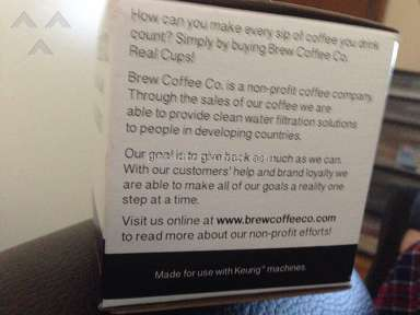 Brew Coffee Co Breakfast Blend Coffee Pods review 138051
