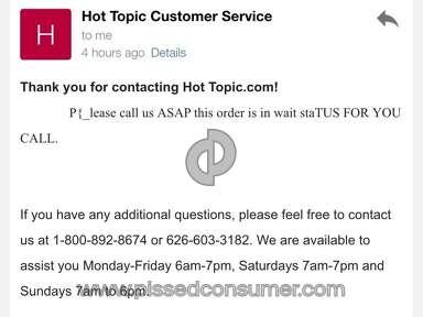 Hot Topic - Poor Customer Service