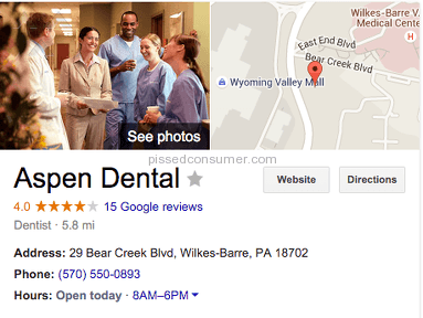 Aspen Dental Emergency Service review 116303