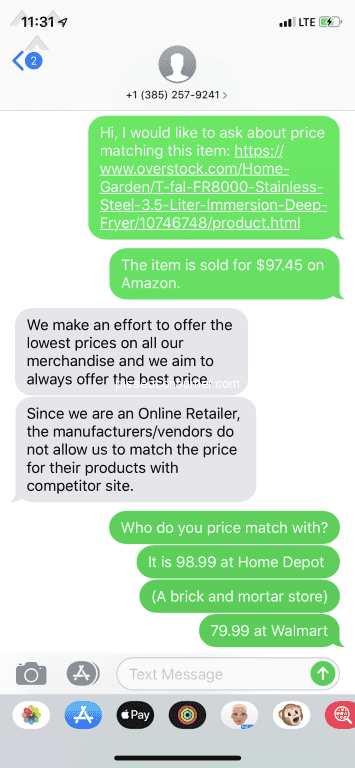 DOES WAYFAIR OFFER PRICE MATCH