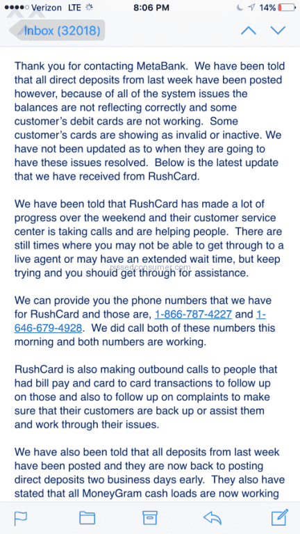 51 Top Rated RushCard Reviews and Complaints with Media Page