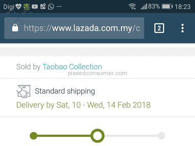 Lazada Malaysia - Delivery not punctual