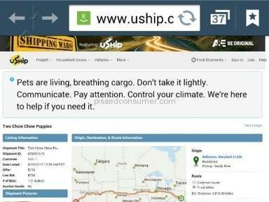 Uship Dog Shipping Review from Richmond, California