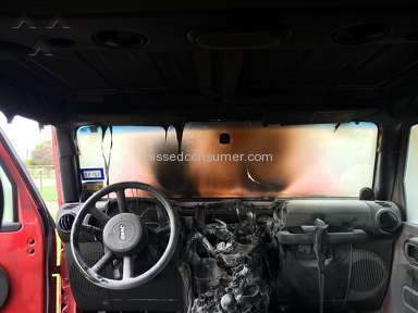 Chrysler - Jeep Rubicon spontaneously combusting.