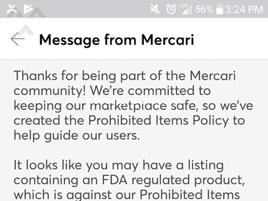 Mercari - Prohibited conduct
