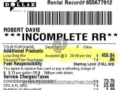 CarTrawler Car Rental Booking review 268450