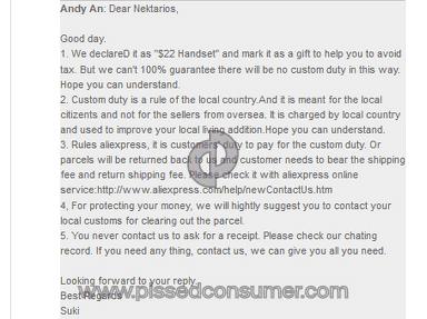 Aliexpress - No item received, no money returned