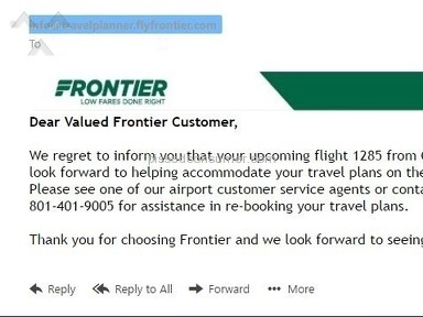 Frontier Airlines - Flight 1285 Cancellation