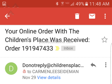 The Childrens Place - Shipping Service Review