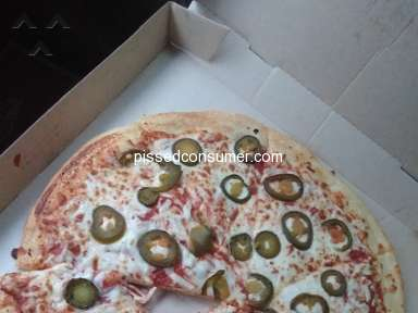 Little Caesars - Complaint raw pizza not cook though