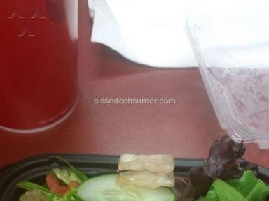 Wendys Salad Review from Sharonville, Ohio