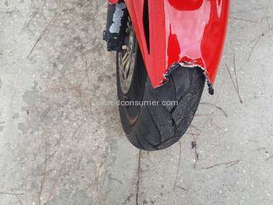 Dhgate - Defective Fender in motorcycle fairing kit