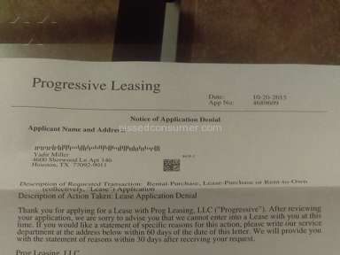 Progressive Leasing - Simple Review #1445646790