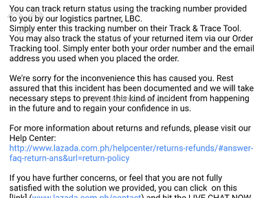 Lazada Philippines Shipping Service review 257976