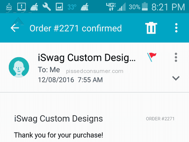 Iswag Custom Designs Delivery Service review 186108