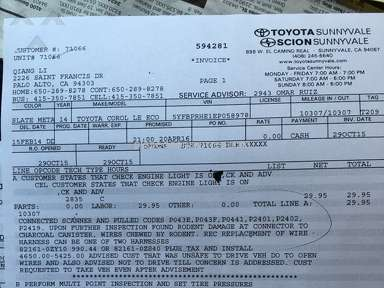 Toyota Sunnywale Dealers review 121077